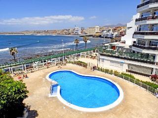 Apart. con vistas al mar, piscina y wifi en El Medano