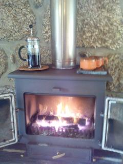 Wonderful log burner for our winter guests.