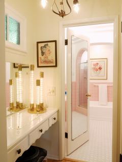 Vanity area in master bedroom