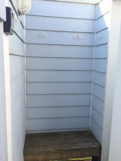 Large enclosed outside shower