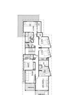 Upstairs floor plan. 5 bedrooms. 2 with ensuites. Dedicated children's bunk room - they will LOVE it