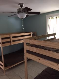 Bunk room with 2 sets of twin beds (sleeps 4)
