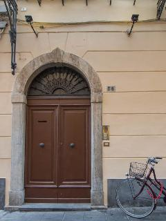 The entrance in the main street of Pietrasanta
