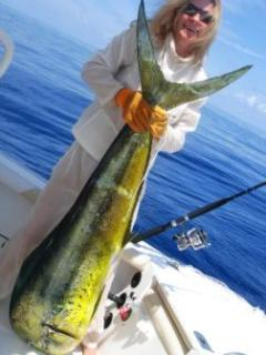 For some, the best fishing is when the fish is at least as big as you are in size!