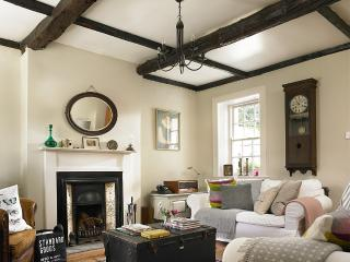 Original beamed ceiling in Rose Cottage living room - full of character