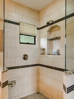SHOWER IN MASTER BATHROOM