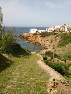Natural path to the cove infront of the apartment