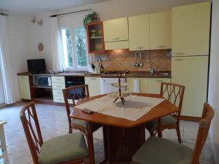Il soggiorno/cucina completo di Forno, lavastoviglie, TV, climatizzatore