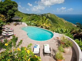 Enjoy the ocean views from this 10- acre property. MAT CAN, Tortola