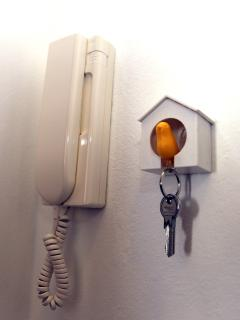 Be nice to the chicken and she will let you have the apartment key.