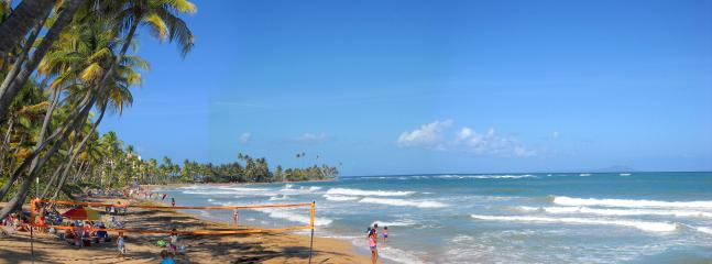 The resort beach at Palmas Del Mar is open to all. Only 5 minutes down the hill!