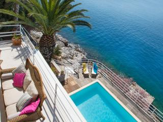 Dubrovnik seafront villa with pool and beach