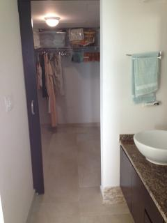 Master bathroom walk-in closet