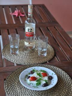 Summer meze and ouzo!