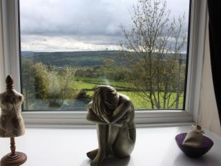 the views from the cottage of Yorkshire dales are from every window
