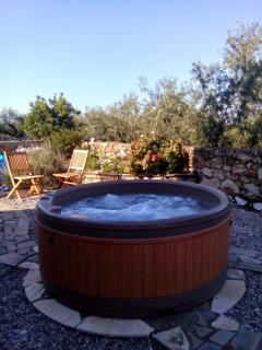 The Hot Tub is available to hire from a local company for an additional 250 Euro per week.