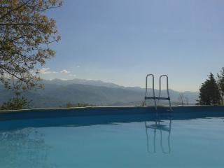 Hilltop house in the Province of Lucca with stunning views and private pool, sleeps 8