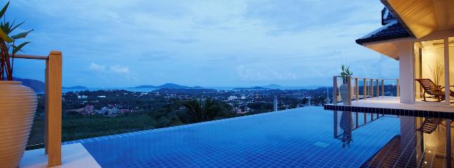 Tranquil views and infinity edge swimming pool to the left and right