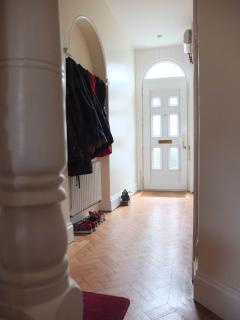 The front entrance hall, plenty of space for busy family days.