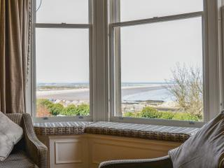 Beautifully appointed lounge with sea views over the West Sands, Scores and towards The Old Course