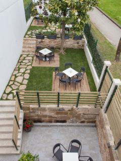 Jardin con terrazas