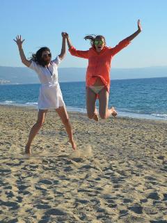 Fun in the sun on the beach