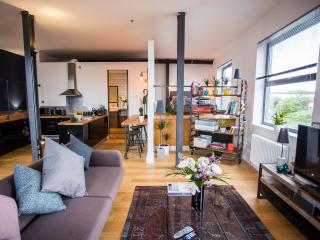 Stylish and Relaxing Loft Overlooking the River with Free Parking