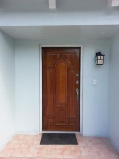 Brand new front door and light
