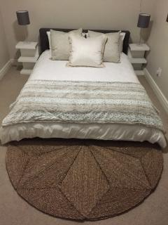 Newly decorated bedroom with Queen extra length bed (taken May 2015)