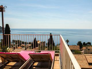 Beautiful 3 bedroom house with jacuzi, terrace and sea view in the French Riviera village of Eze, Èze