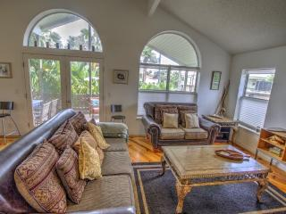 Our Living Room has a warm, custom Pine Floor.
