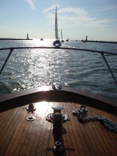Spacious forward deck for enjoying the water views or sunbathing.