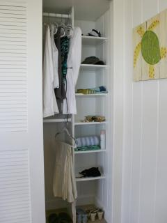Gull House Master Bedroom Closet.