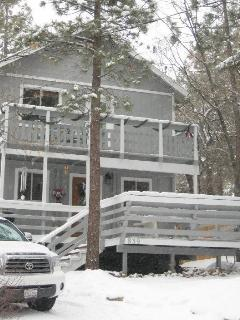 Picture of House during Winter Snow Fall