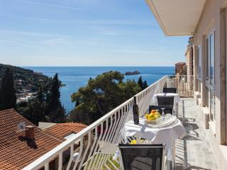 Villa Pusic - Two-Bedroom Apartment with Balcony and Sea View (A1)
