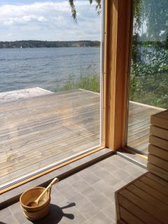 View from the sauna