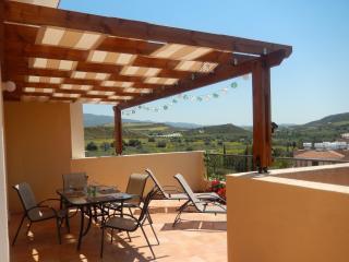 Balcony with shading pergola
