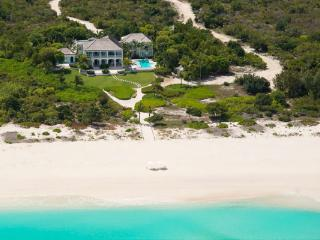 This extraordinary 18- acre estate offers more than 600 feet of private beachfront on Grace Bay. PL AMZ, Leeward