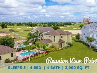 Reunion View Point | Luxury 4 Bed Villa with Large Pool, Custom Kitchen & Deck Located on the Palmer Golf Course, Kissimmee