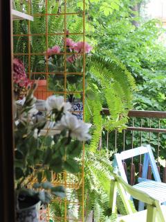 Terrazzino con affaccio sul parco - Balcony overlooks the park