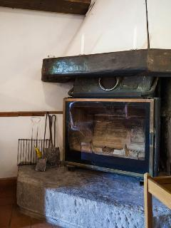 the stone cottage - the fireplace