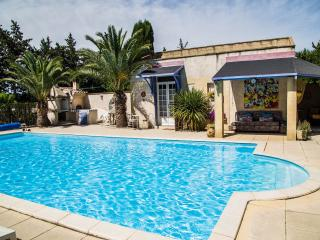 Le Kiwi-converted barn, sleeps 2, pool, Provence, Rognonas