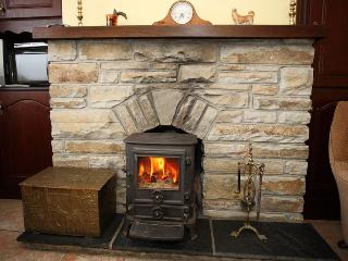 Ardara, Co. Donegal. Cosy 3 bedroom house with rural and sea view w Stove fire