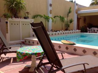 Poolside in the Mexican beach village of Chelem!