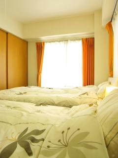 Second bedroom, 1x Semi-double sized bed and  1x Single sized bed