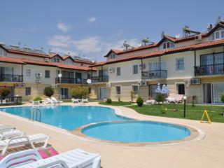 This general view of Calis Beach Complex shows the shared swimming pools adjacent your apartment