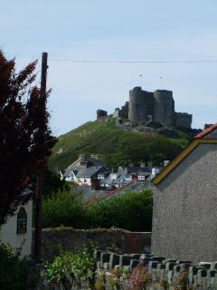 Superb view of Criccieth  castle from Holly cottage
