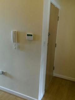 Intercom to open the door