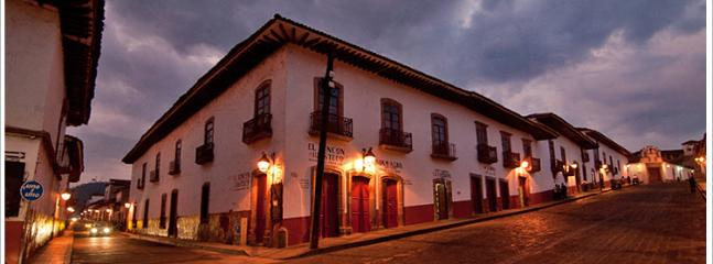 Dusk in the Historic Center of Patzcuaro.. 1.5 blocks from Casitas Patzcuaro