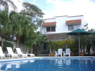 Jungle Dream: great location, garden and pool, Cozumel